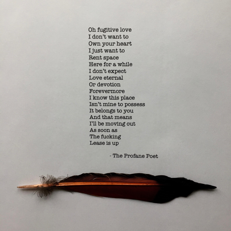 Girl Warrior Productions - The Profane Poet - Fugitive Love