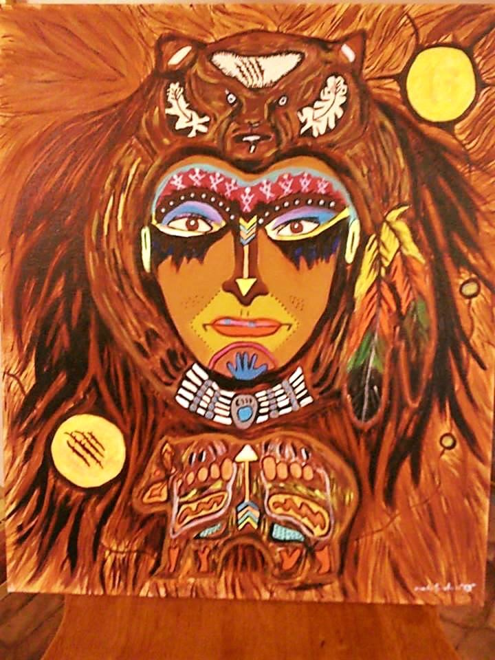 Mindy Sinclair Woman Warrior Painting