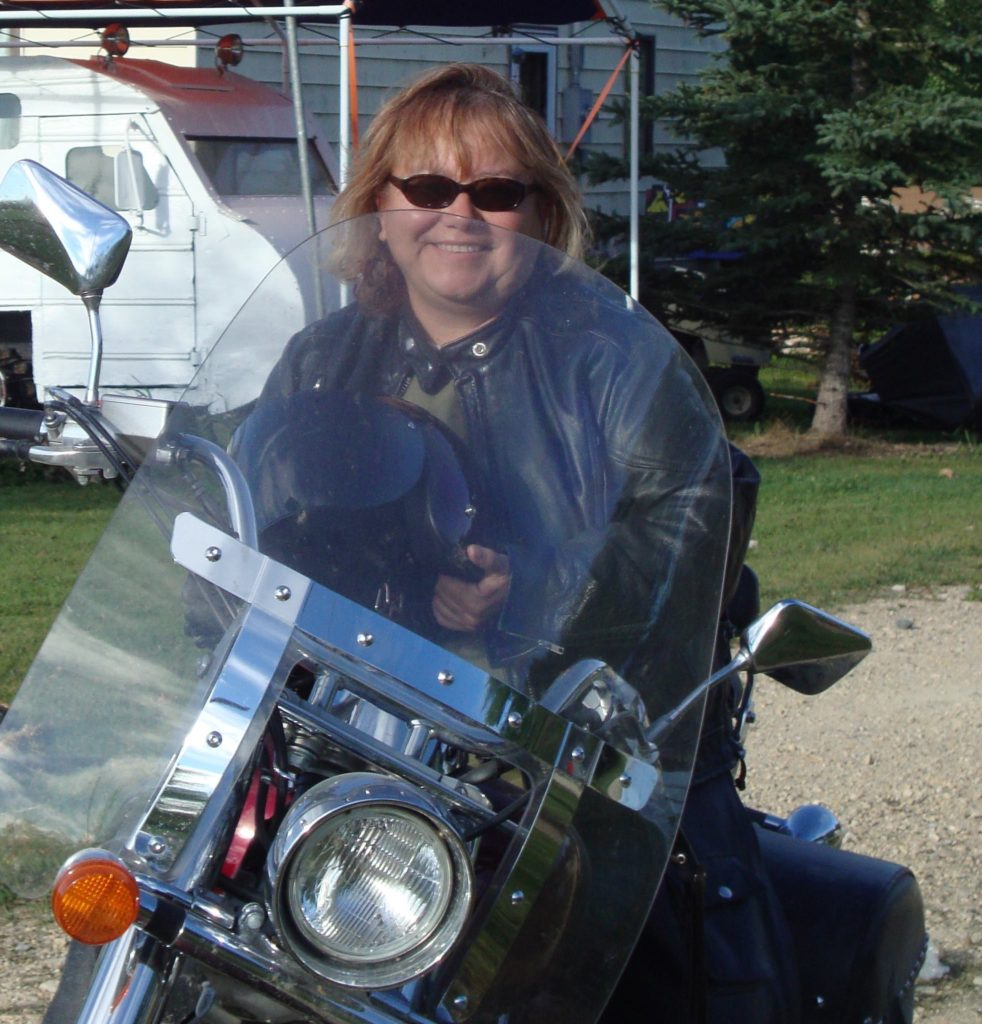 Mindy Sinclair - On Bike